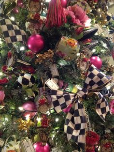 A detail from one of our trees in the Aurora Shop! Love Mckenzie Childs ... especially at Christmas!!! |Pinned from PinTo for iPad|