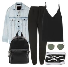"""Untitled #4568"" by ericacavaco12 ❤ liked on Polyvore featuring Alexander Wang, Topshop, Vans, Bassike, Ray-Ban and French Connection"
