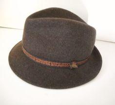 Scala-Classico-Fedora-Brown-Wool-Felt-Hat-Mens-One-Size-Dorfman-Pacific-Company