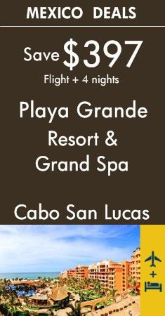 Cabo San Lucas - Mexico: Playa Grande Resort & Grand Spa | Four Diamond and Conde Nast award resort on Baja's southern beach | View All Package Deals!