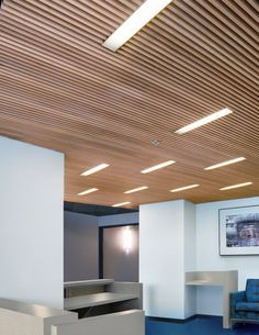 Wood Grid Panel For Suspended Ceiling Asu Walter Cronkite School Basement Pinterest