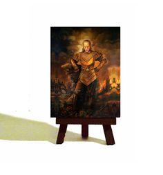 Vigo the Carpathian - Ghostbusters Classic  Miniature Canvas and Easel Set - Awesome Fan Gift !!