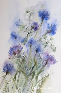 Cornflowers and Gypsophilia Kaye Parmenter