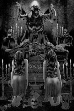 The Majick of Metal Part One: Theistic Satanism Fantasy Kunst, Dark Fantasy Art, Dark Art, Ange Demon, Demon Art, Baphomet, Arte Horror, Horror Art, Theistic Satanism