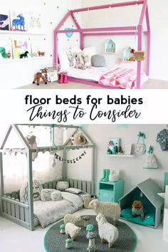 Montessori Yatak: Floor Beds for Babies {Things to Consider} – Baby Room 2020 Baby Floor Bed, Toddler Floor Bed, Baby Boy Room Decor, Baby Boy Rooms, Toddler Rooms, Kids Rooms, Baby Room, Traditional Cribs, Montessori Bed