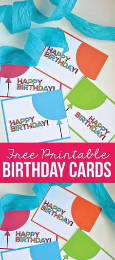 Free Printable Birthday Cards from www.thirtyhandmadedays.com | Easy to keep on hand for that last minute birthday party!