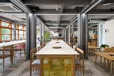 SALT transforms warehouse into stock shared offices in tokyo