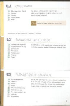Weight Watchers - Ontbijtkwark // Sandwich met kipfilet to go // Pasta met snelle tonijnsaus