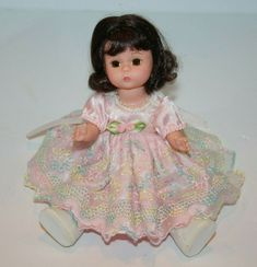 "Madame Alexander HAPPY BIRTHDAY Doll 8"" Brunette Hair Dress 2001 Small 27241 #MadameAlexander"