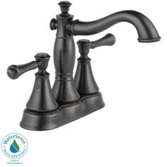 Delta�Cassidy Venetian Bronze 2-Handle 4-in Centerset Watersense Labeled Bathroom Sink Faucet (Drain Included)