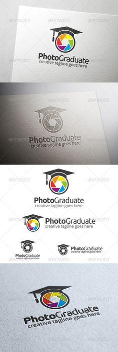 Photo Graduate - Logo Design Template Vector #logotype Download it here: http://graphicriver.net/item/photo-graduate-logo/6718106?s_rank=558?ref=nexion