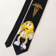 M&M's Doctor Mens Neck Tie Black M&M's Doctor Big