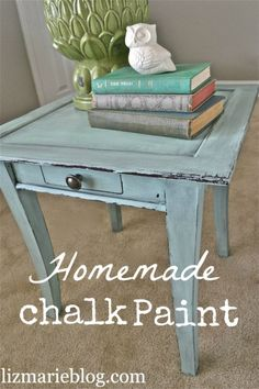 DIY::Homemade Chalk Paint vs. Annie Sloan Chalk Paint .Step by Step Comparison, plus copy recipe, tips, and furniture makeover tutorial