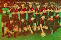 F. C. BARCELONA - Barcelona, España - Temporada 1987-88 - Zubizarreta, Gerardo, Lineker, Schuster, Julio Alberto, Alexanco, Migueli; Carrasco, Víctor, Urbano, Roberto, Mur (masajista) y Corbella (utillero) - F. C. BARCELONA 1 (Alexanco), REAL SOCIEDAD DE SAN SEBASTIÁN 0 - 30/03/1988 - Copa del Rey, final - Madrid, estadio Santiago Bernabeu - El Barcelona conquista su 21er. título de Copa Barcelona Football, Fc Barcelona, Santiago Bernabeu, Soccer, Football Team, Football Pictures, Champs, Training, Seasons