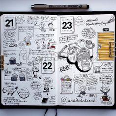 2016-01-21〜23の見開き。色々バランス悪いですが、あまり気にせず描き上げました。日記だからね。まとまってないことも多いのよ、ってことで(黄色いドアのせいだけど(笑) + + + 絵日記倶楽部の部員さんへのリマインダーです。そろそろ1月終わるので、1月分の提出物投稿するの忘れないでね(。´◡`。) そして、絵日記はあくまでも日記だということを忘れないように。イラスト練習に励んでいるのは素晴らしいと思いますが、絵日記倶楽部のタグをつけて提出する場合は、なるべくその日にあったことややったことに関連のあるイラストが入ったページの写真を載せてください。よろしくお願いします。 + + + #moleskinejp #moleskine #絵日記倶楽部 #RYOskine #絵日記 #モレスキン #MoleskineSketchbook Please consult the webite link for the info about the Enikki Club 絵日記倶楽部.