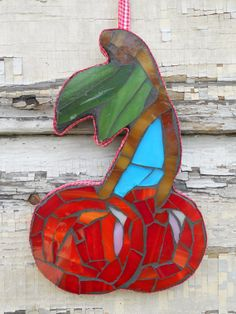 Mosaic Cherries Wall Art Decor by RestnPieces on Etsy, $38.00