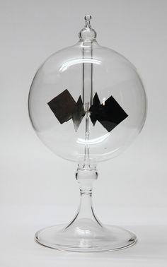 """Radiometer   Great Gift for Him  Give a gift he can use! 4"""" Diameter Clear Sphere Short Stem"""