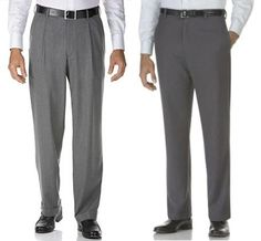 remove pleats for an updated flat front pant