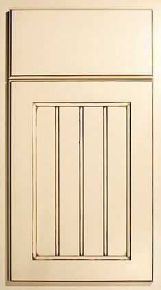 Utility Room Cabinet Door Profile - FM, Beaded, B - In Mid South White Finish (Not Shown)