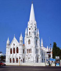 The Santhome Basilica, Santhome, Chennai, India, which houses the tomb of Thomas the Apostle.