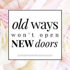 "✨Old ways won't open new doors✨ . The real hard truth is you are not going to attract clients, make more money in your business, and change your life by reading my posts, downloading that next checklist or listening to another free training. . It's time to start taking action. No more sitting on the sidelines, biting your nails, ▪️""considering"" ▪️""thinking"" ▪️""preparing"" ▪️""researching"" ▪️or ""reading"" about your next move. . 〰It's time to get going〰 It's time to TAKE THE BIG LEAP. It's time…"
