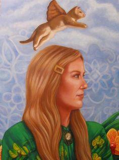 """Ellen, Looking into the Eternal Garden    oil on panel, 2011 12""""x16"""""""