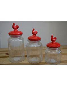 Set de 3 frasco gallo