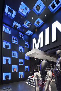 MINI pop up store by Studio 38, London store dPop Up Shop Design / Retail Design / Semi Permanent Retail Fixtures / VM / Retail Display / esign