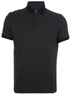 FENDI Monogram Print Polo Shirt