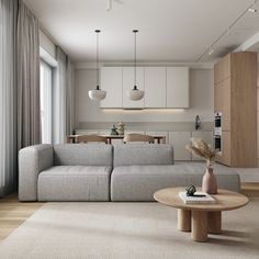 Home Room Design, Interior Design Living Room, Living Room Designs, Living Room Decor, Interior Decorating, Study Interior Design, Murs Beiges, Decoration Gris, Minimalist Dining Room