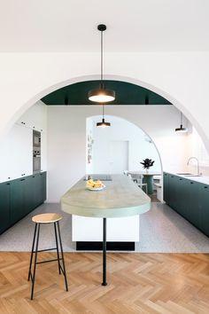 Design My Kitchen, Interior Design Living Room, Küchen Design, House Design, Estilo Art Deco, Kitchen Dinning, Beautiful Interiors, Bauhaus, Interior Architecture