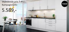 www.skabdinbolig.dk har køkkener i alle prisklasser. Her kan du se et klassisk eksempel på et køkken til studenter lejligheden, eller måske til sommerhuset - kun fantasien sætter grænsen. Se flere gode tilbud på www.skabdinbolig.dk