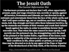 Full version of the Jesuit Extreme Oath of Induction Illuminati, Society Of Jesus, The Inquisition, Whole Earth, New World Order, Satan, The Magicians, Christianity