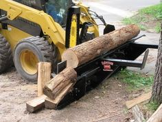 HWP Firewood Processor by Halverson Wood Processors, Firewood Processors, Firewood Processor, Firewood Processing, Skid Steer Mounted Firewood Processors Firewood Processor, Log Splitter, Fire Wood, Mini Excavator, Homemade Tools, Wood Cutting, Tractor, Truck, Shell