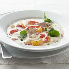 Quick Salmon Chowder:Frozen veggies and canned salmon make this hearty chowder quick and easy to prepare. Use it to warm you up on a cool day.