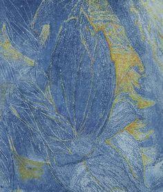Original print. Sunflower II. Solar etch by Wendy Murray