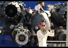 Michael Bay, Shia LeBeouf, and Rosie Huntington-Whiteley on the set of Transformers: Dark of the Moon!
