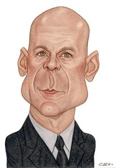 Bruce Willis (Caricature) Dunway Enterprises: http://dunway.com - http://masterpaintingnow.com/how-to-draw-everything?hop=dunway
