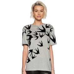 b2aa70f7ab Polyester & Cotton Women Short Sleeve T-Shirts Mcq Alexander Mcqueen, T  Shirts For