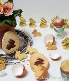 Mürbteig-Oster-Kekse mit Mandel-Nougat-Füllung-6