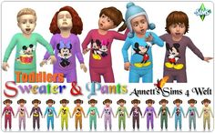 """Annett's Sims 4 Welt: Toddlers Sweater & Pants """"Micky"""""""