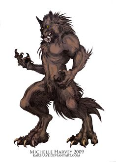 Werewolf comparison Grizzly by WolfSkullJack