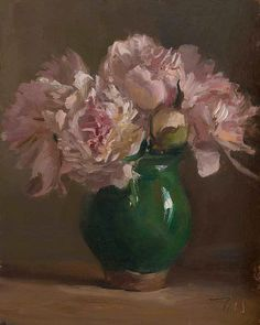 "www.facebook.com/MiaFeigelson ""Peonies in a provençal vase"" (2014) By Julian Merrow-Smith..."