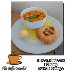 With the days getting cooler there is nothing nicer than a cup of hot Butternut Soup to warm you up. The Coffee Market George serves light meals through out the day. Visit us on the first floor of the Nedbank building in York Street, George. #cuisine #lightmeals #catering