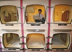 People laugh at the pod hotels but I think I would sleep so well in a tiny space. Thoughts?