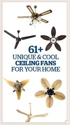 Unique Ceiling Fans: 61+ Cool & Unique Ceiling Fans For Your Home  #unique #cool #ceiling #Ceilingfan #fan #Ceilingfans #fans