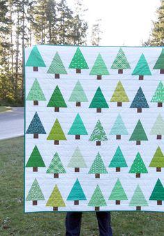 Evergreen Quilt + Tutorial | Cluck Cluck Sew