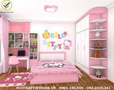 Small Girls Bedrooms, Girls Bedroom Sets, Bed For Girls Room, Pink Bedrooms, Baby Bedroom, Girl Room, Room Design Bedroom, Wardrobe Design Bedroom, Kids Bedroom Designs