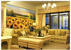 Sunflower 2 Wall Paper Wall Print Decal Wall Deco Indoor wall Mural wallpaper