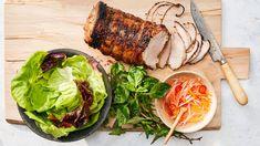Grilled Pork Loin with Lemongrass Grilled Pork Loin, Pork Ham, Pork Roast, Roast Brisket, Grilling Recipes, Pork Recipes, Wine Recipes, Cooking Recipes, Bonito